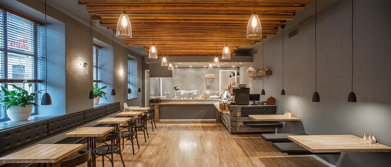 Interior design of a restaurant - 3D rendering