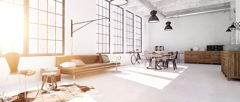 Interior design of a modern living room - 3d rendering